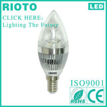 2013 High CRI 5W E14 Dimmable LED Candle Lamp