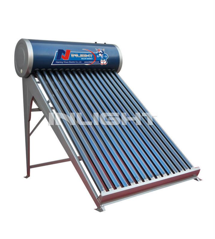 自然循環ガラス真空管太陽熱温水ヒーター