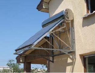 携帯用太陽熱温水器