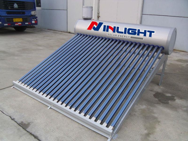 フルオロカーボンプレート加圧されていないアシスタントタンクで太陽熱温水器