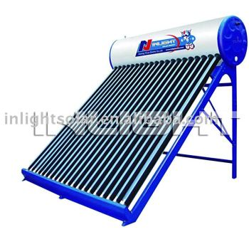 重力真空管太陽熱温水器