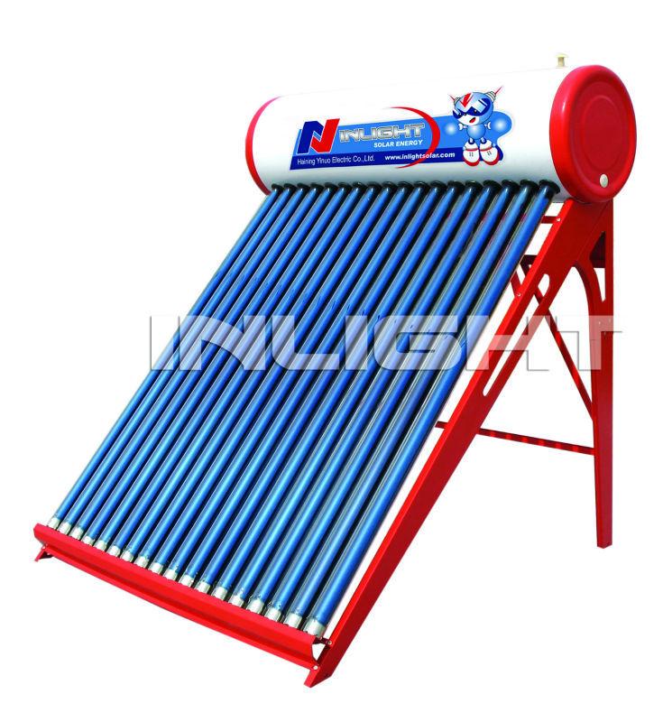 色の鋼鉄Non-pressurized真空管の太陽給湯装置