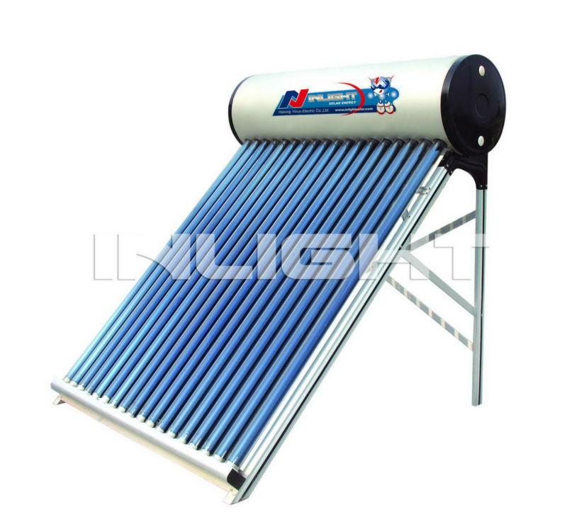 統合された非- 加圧された真空管太陽熱温水器