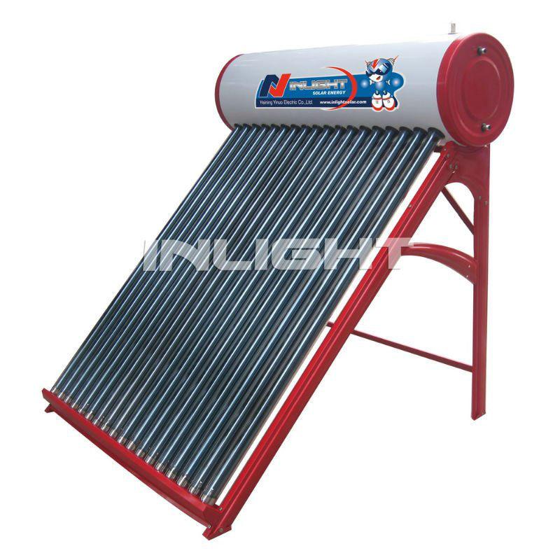 コンパクトな真空管太陽熱温水器低圧で