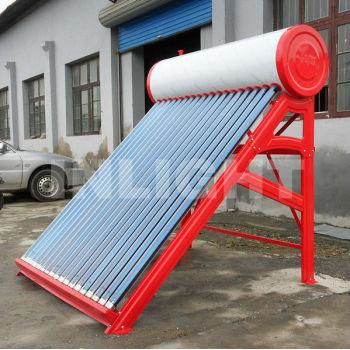浴室の使用低圧太陽熱温水給湯器と電気のバックアップ