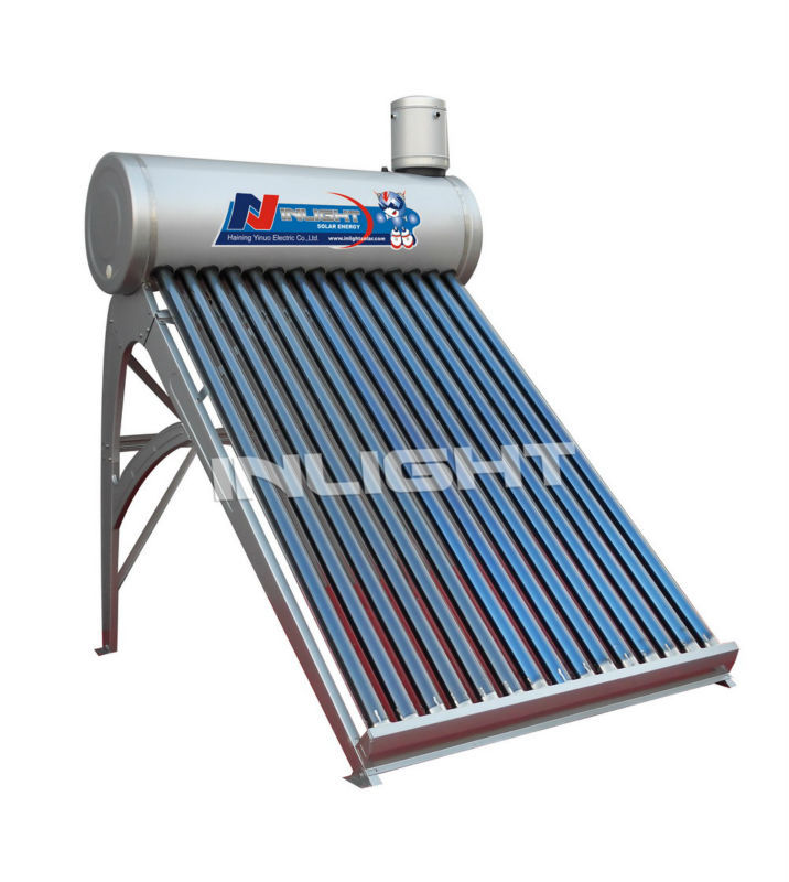 Compact vacuum tube Solar water boiler with copper coil