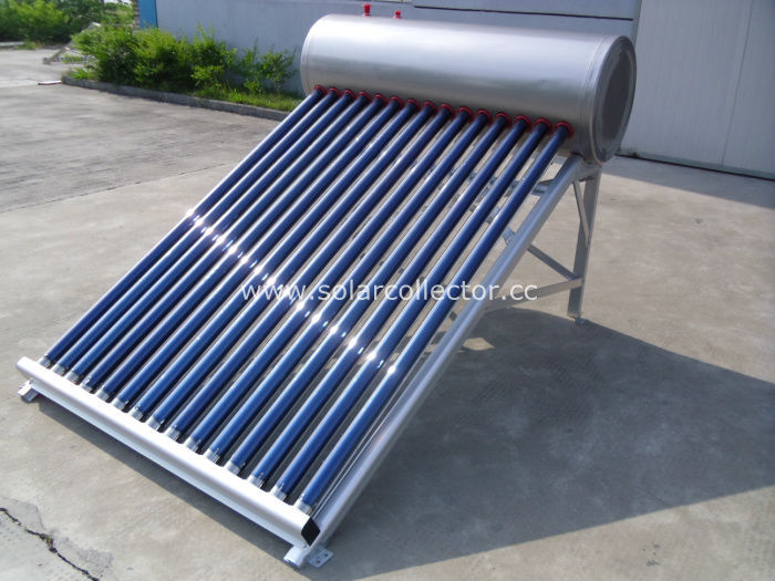 統合された住宅と太陽熱温水器低圧
