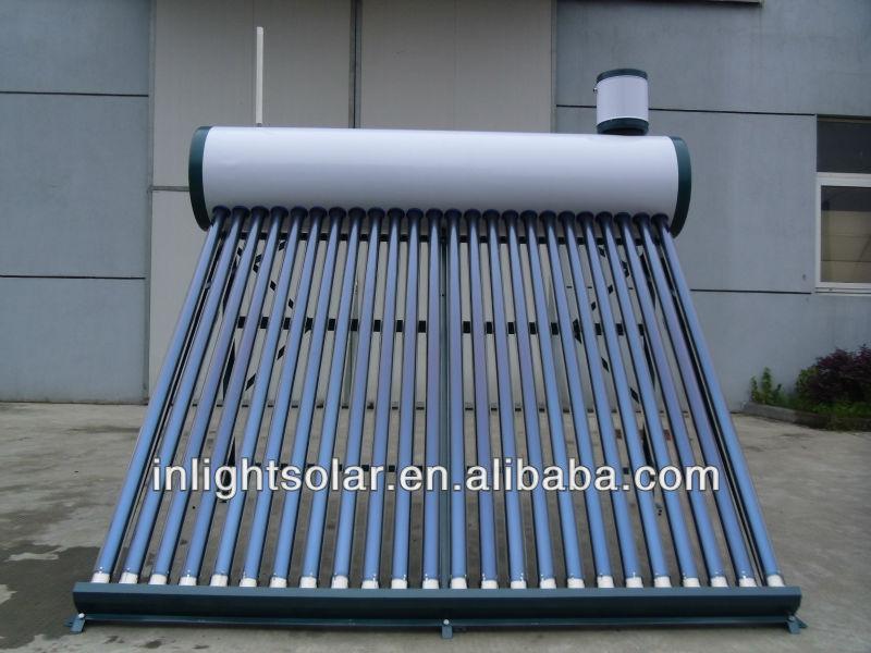 統合された加圧されていない太陽熱温水器