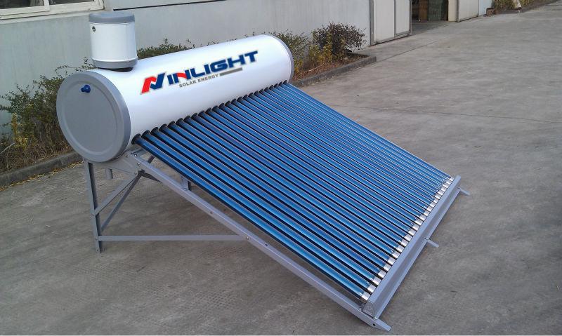 オープンループ加圧されていないステンレス鋼真空管太陽熱温水器( ce)