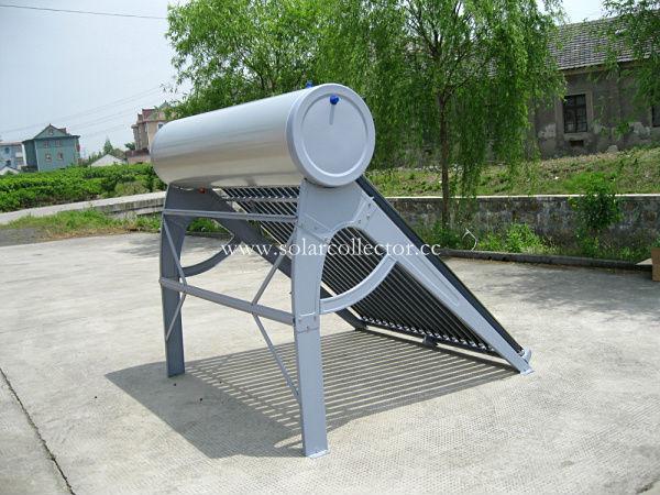 unpressurized evacuated passive solar energy heater
