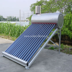 Stainless steel evacuated tube solar energy heater