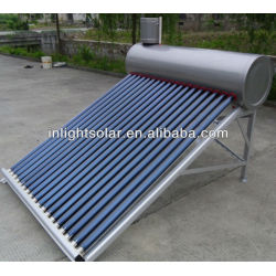 High Quality Vacuum Tube Inox Solar Water Heaters 200L Made in China