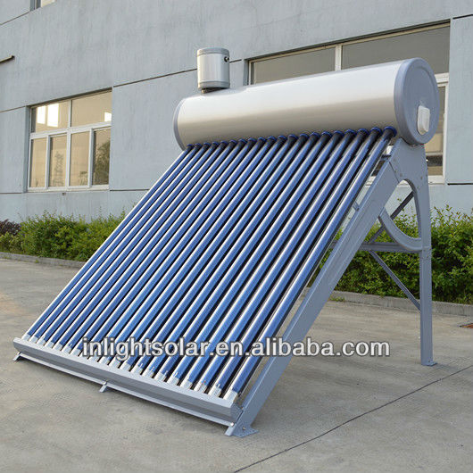 Integrated unpressurized vacuum tube thermo solar water heater
