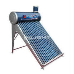 Non-pressure Compact Vacuum Tube Type China Solar Water heater,Color Coated Mateial 100L to 500L Free Standing With High Quality