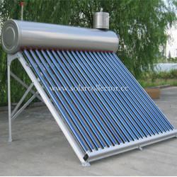 Integrated unpressurized solar water heater