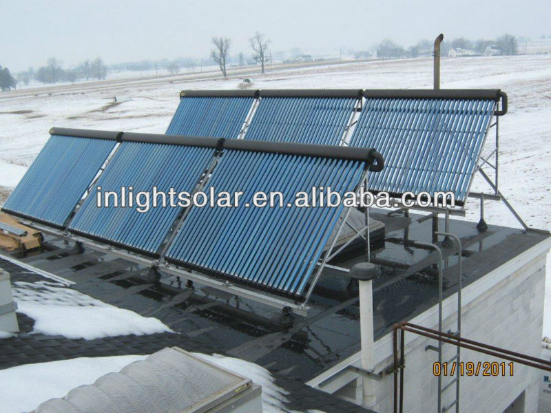 30 Pips Balcony Fixed Heat Pipe Solar Collector Solar Panels