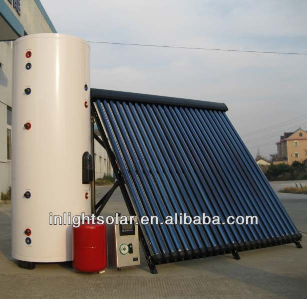 Split High Pressure Heat Pipe Solar Heater