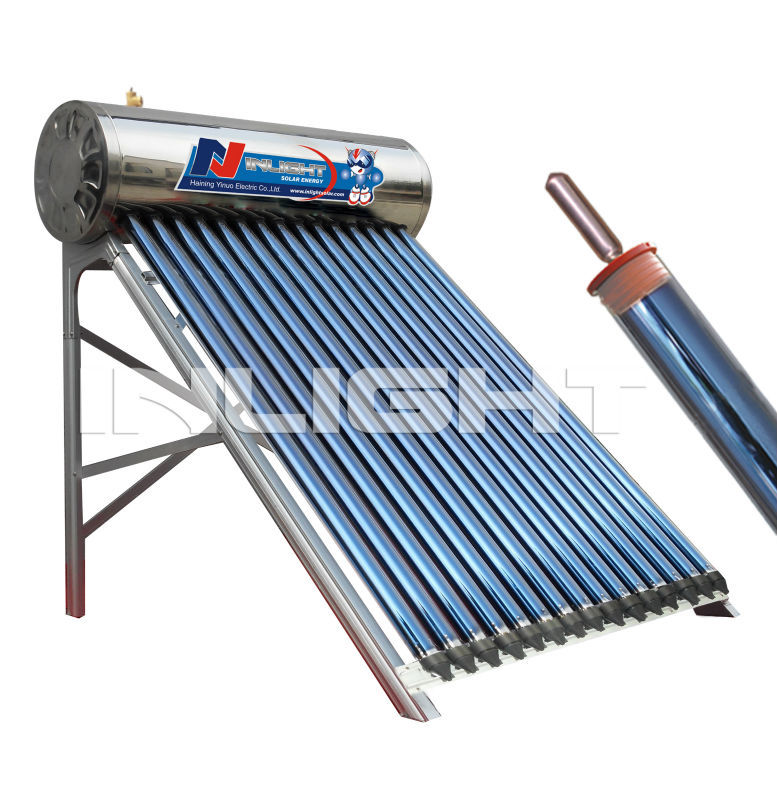 2013 new sale high pressure integral heat-pipe solar hot water