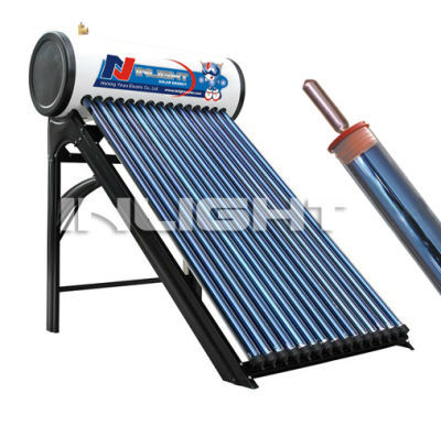 household use copper pipe pressurized solar water heater