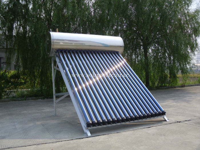 Integrated pressurized solar water heater
