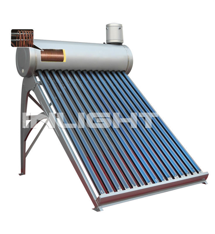 Closed loop Copper Coil Pressurized pre-heat solar water heater