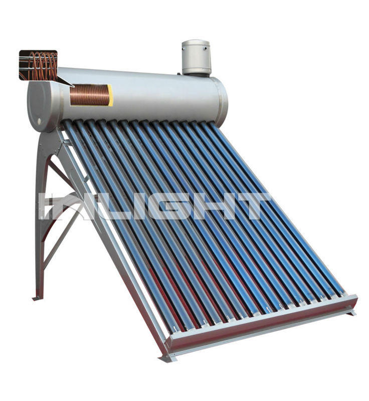 integrated Pressurized Solar Water boiler with copper coil