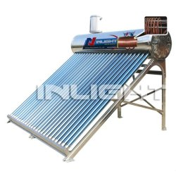 integrate solar geyser with copper coil