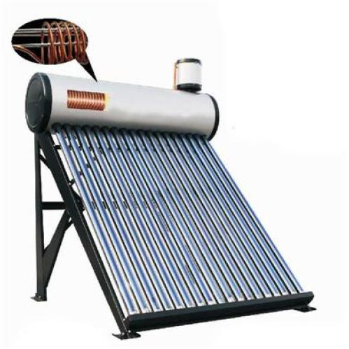 Pressurized solar water heater with copper coil inside for Copper hot water tank