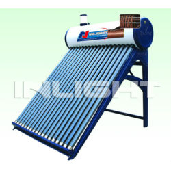 integral pressurized solar water heater copper coil for preheat