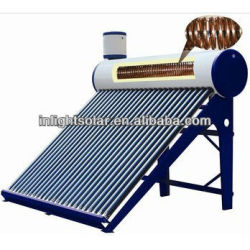 Copper coil pressure solar water heater
