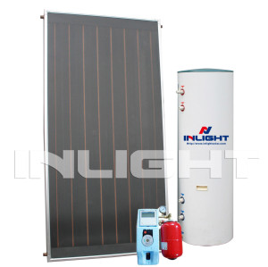 Split Pressurized Flat Plate Solar Water Heater