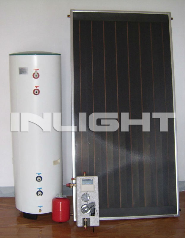 flat panel solar water heater copper for heat exchange