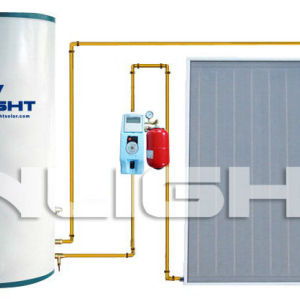 split flat plate solar hot water heater copper for heat exchange