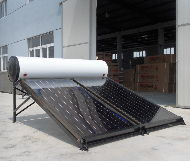 integrated flat plate solar water heater with aluminum frame