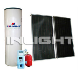aluminum and copper split flat plate solar hot water heater