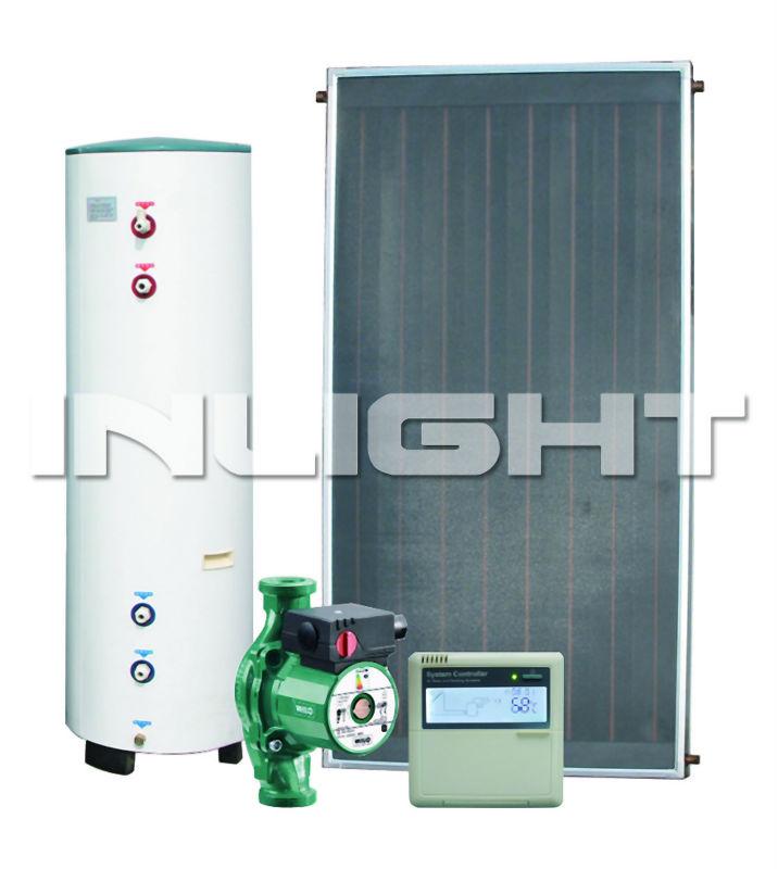 tempering glass aluminum manifold flat plate solar water heater