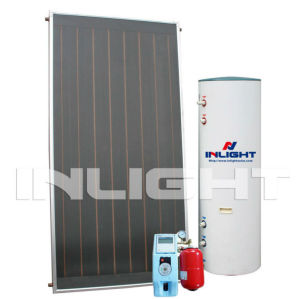 copper manifold flat plate solar water heater with black chrome absorption layer