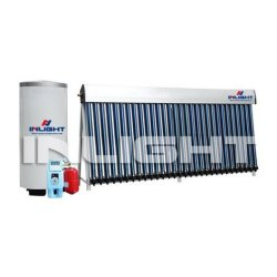 Split pressure solar heating system with heat pipe