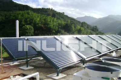 industrial central heating glass tube solar water heating system