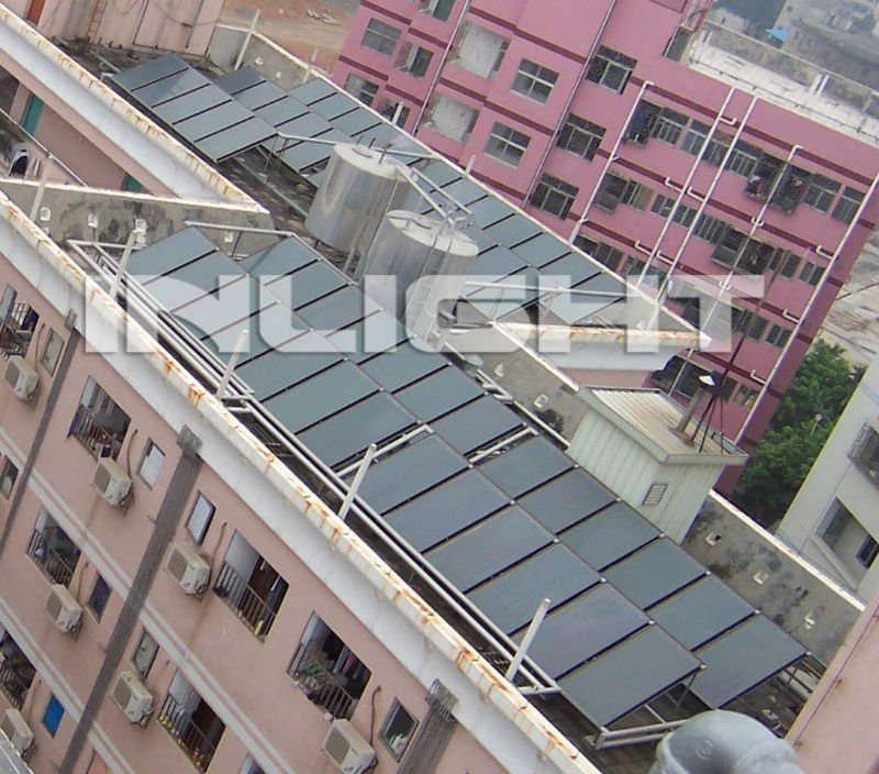 Split Pressure Flat Panel Solar Heating System