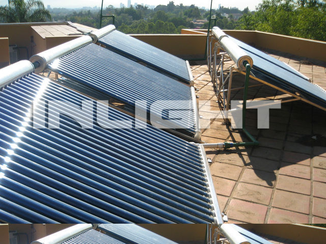 glass tube solar themal water heating system with non pressure