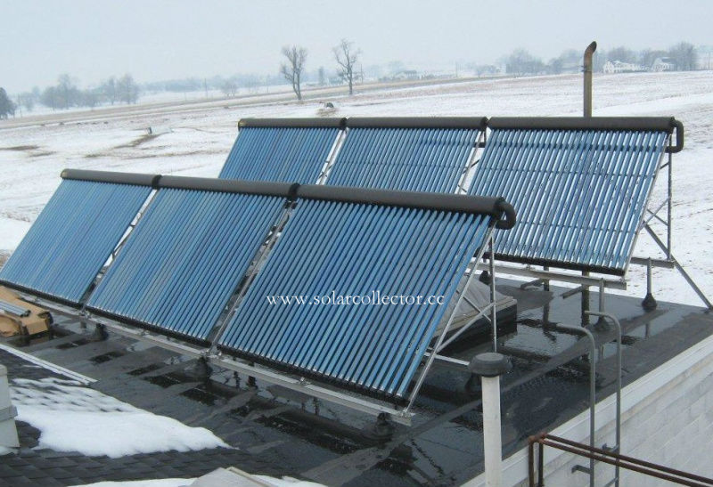 Keymark certified Copper heat pipe Solar Collector