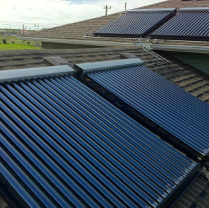 flat roof mounted heat pipe solar collector