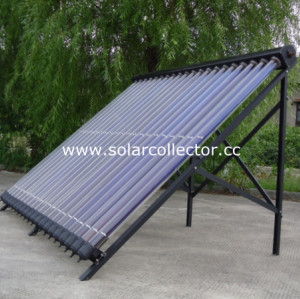 Copper Manifold Heat Pipe Solar Energy Collector