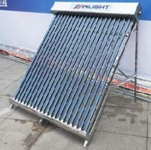Stainless Steel All Glass-tube Solar Collector(One-wing Type)