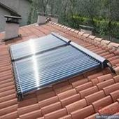 Split Pressurized Heat Pipe Solar Collector