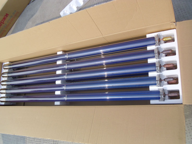 metallic seal heat pipe vaccum tube solar collector