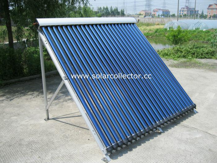copper manifold Heat Pipe pressurized solar Collector