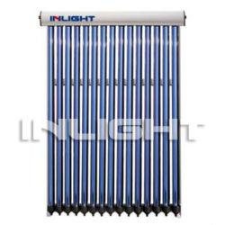 flat roof vacuum tube heat pipe solar collector