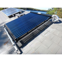 split pressurized vacuum tube solar water heater collector